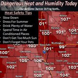 The heat indes will be over 100 today, take care of yourself and remember KELO AM cares!  (NWS.gov)