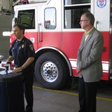 SF Fire Chief Jim Sideras and SF Police Chief Doug Barthel