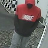 The suspect was seen on surveillance video.