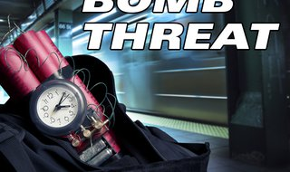 Bomb Threat graphic. Copyright Midwest Communications, Inc. 2014