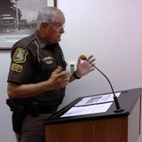 Sheriff John Pollack addresses Branch County Commissioners during their meeting on July 22, 2014