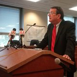 Wausau Mayor Jim Tipple speaks at a press conference on the future of city government, July 23 2014