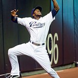 San Diego Padres outfielder Cameron Maybin (Wikipedia)