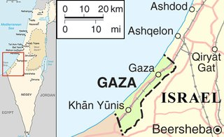 Map of Israel and Gaza. Image courtesy Wikimedia