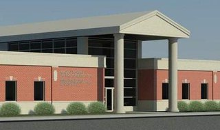 Artists rendering of the finished Marshall Regional Law Enforcement Center.