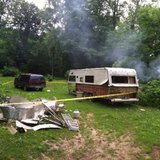Trailer where body was found. Photo supplied by Indiana State Police