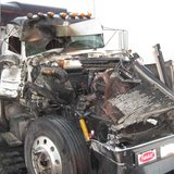 Truck damaged in I-94 collision (ND State Patrol)