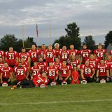 The Coldwater Alumni Football team poses for a picture before the First Annual Coldwater-Sturgis Alumni Football Game on July 25, 2014. (Photo courtesy CHS Football Team Facebook page)