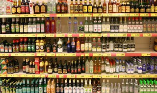 A selection of hard liquors.