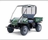 What a Kawasaki Mule looks like when its new.