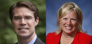 Democrat Sean McCann and Republican Margaret O'Brien.