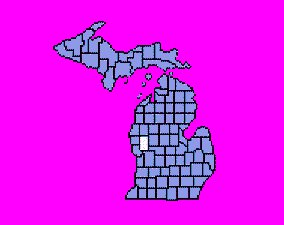 Newaygo County is half-way up the mitten in West Michigan