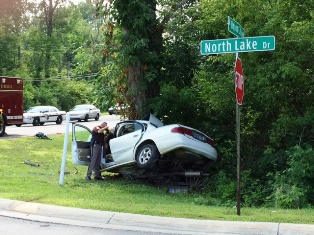 Fatal traffic accident at the corner of North Lake Drive and Union City Road July 30, 2014