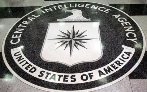 The logo of the U.S. Central Intelligence Agency is shown in the lobby of the CIA headquarters in Langley, Virginia March 3, 2005. CREDIT: REUTERS