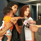 Kayden Powell and his parents (Photo: Wisconsin Radio Network)