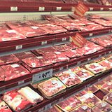 store meat display