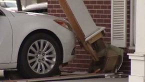 Car hits Valley Mortgage building in Fargo