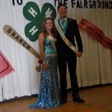 2014 Branch County Fair Queen Shane Hasty of Tekonsha and King Michael Tesch II of Quincy