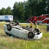 Rollover accident on I-69 near the 4 Mile marker August 4, 2014