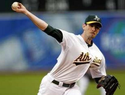 Pitcher Brandon McCarthy during his 2011 days with the Oakland Athletics REUTERS/Beck Diefenbach
