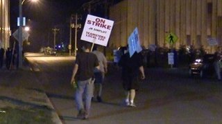 J.R. Simplot workers walk the picket line