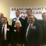 58th District State Representative candidates after a forum sponsored by the Branch County Republican Party July 28, 2014 in Coldwater