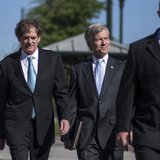 Former Virginia Governor Robert McDonnell arrives with his legal team for his trial in Richmond, Virginia, July 28, 2014. CREDIT: REUTERS/JAY WESTCOTT