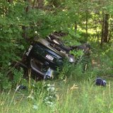Crash on Highway 52 8/8/14.  Photo: Marathon County Sheriff's Department