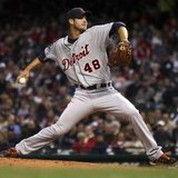 Tigers starting pitcher #21, Rick Porcello