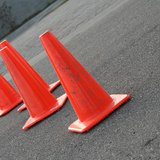 Some construction cones.