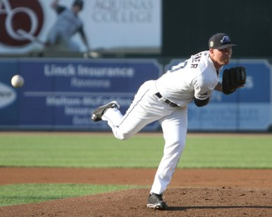 Pitcher Buck Farmer in 2014 action with the West Michigan Whitecaps (photo courtesy West Michigan Whitecaps)