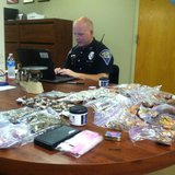 items seized in drug bust. photo provided by Indiana State Police