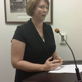 Community Action CEO Michelle Williamson speaking to the Branch County Board of Commissioners August 12, 2014