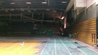 A look at the damage to Preble High School's gym after a fire on Friday August 8, 2014. (Photo Copyright Midwest Communications, Inc.)