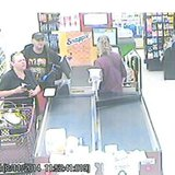This is a surveillance image of the suspect with a female accomplice at Econo Foods in Sturgeon Bay. (Photo from: Brown County Sheriff's Department).