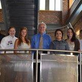 Left to right: Tyler Woody, Olivia Parshall, Maria Buko, Ken Wasco (MRA ESF board chairman), America DePaz, Sarah Nagel, and Nick Blanton.