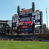 Comerica Park, home field of the Detroit Tigers.