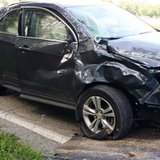 SUV damaged during accident on Union City Road August 18, 2014