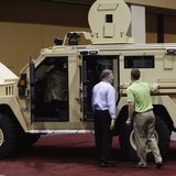 MRAP vehicle designed for warding off IED's in Afghanistan now being used by local police departments.