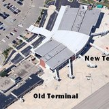 Airport terminals new and old (courtesy of Google)