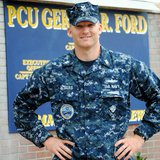 Petty Officer First Class Adam Albers is a boatswain's mate aboard Pre-Commissioning Unit Gerald R. Ford. Photo Courtesy Navy Office of Community Outreach
