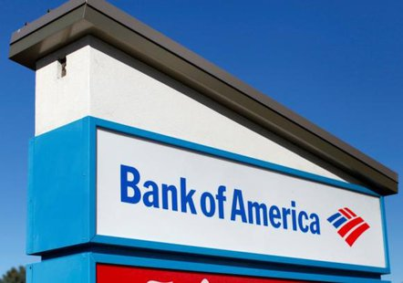 A Bank of America sign is pictured in Encinitas, California January 14, 2014. CREDIT: REUTERS/MIKE BLAKE