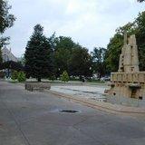 Bronson Park in Kalamazoo. Image © Midwest Communications, Inc. 2014.
