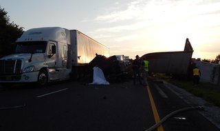 fatal accident on I-70  Pic provided by Indiana State Police