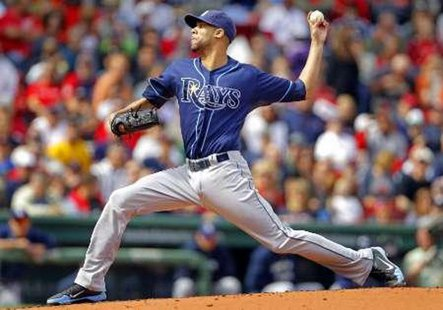 Pitcher David Price during his Tampa Bay Rays days. REUTERS/Adam Hunger
