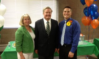 Aaron Knodel (right) with ND First Lady Betsy Dalrymple and Gov. Jack Dalrymple