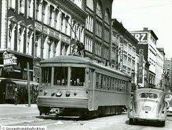 Indiana railroad 205 on Wabash Ave Terre Haute April 1939  courtesy Hicks Car Works blogspot