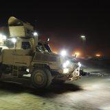 MRAP at night. (Reuters)