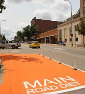 Main Avenue Road Diet.  Photo courtesy City of Sioux Falls.