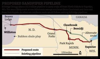Minn. DNR Urges Reroute Of Sandpiper Crude Oil Pipeline